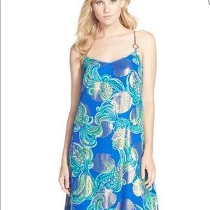 Lilly Pulitzer Dusk Strappy Silk Maxi Dress
